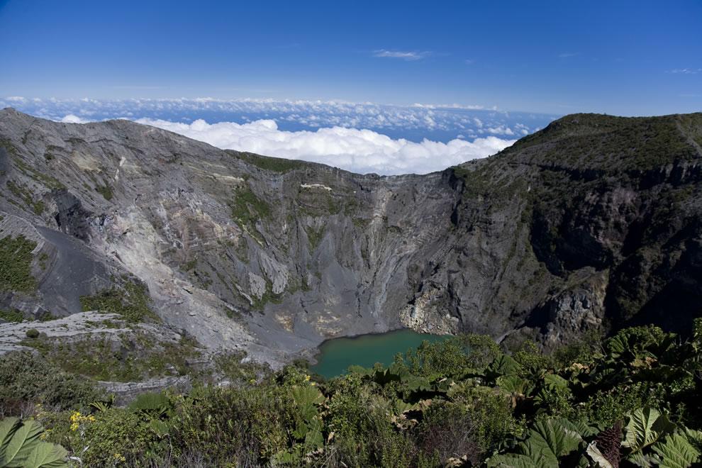 Crater Lake at Irazu Volcano in Costa Rica