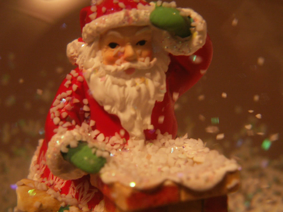 From Inside the Snow Globe with Santa