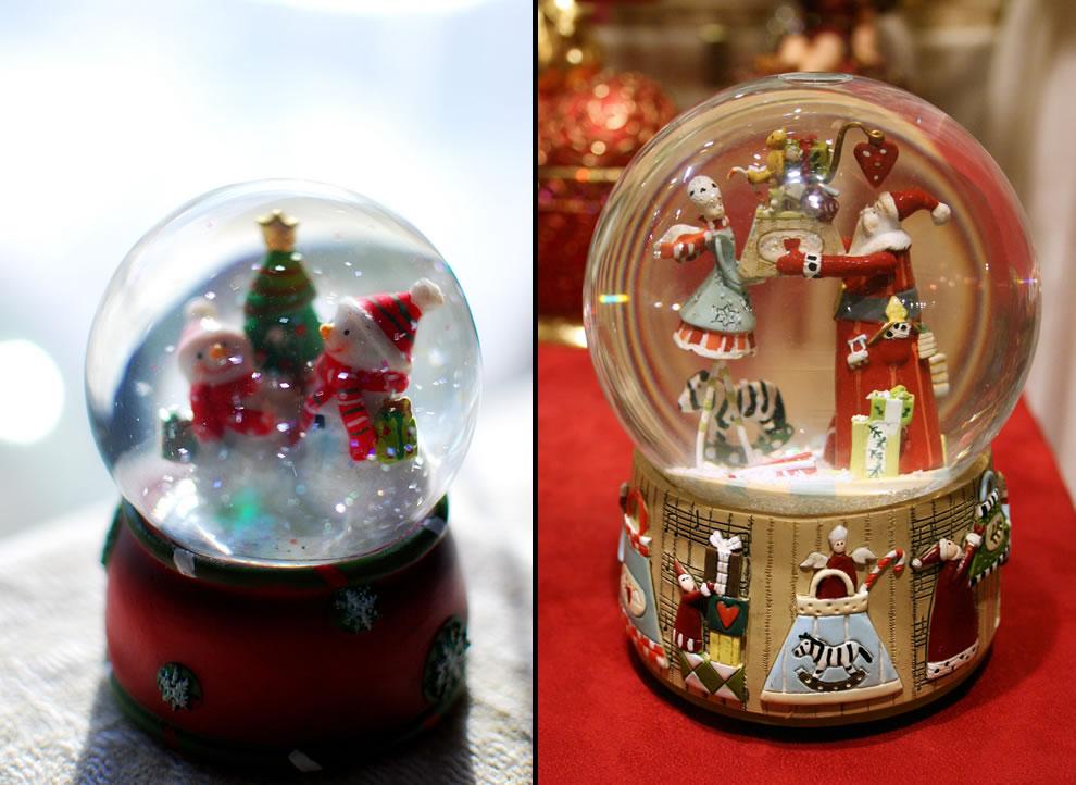 Happy snowmen & Schneekugel mit Nikolaus