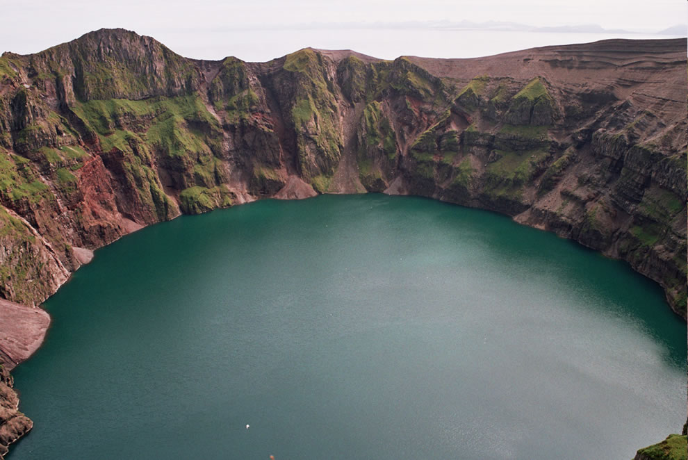 Kasatochi Island crater lake