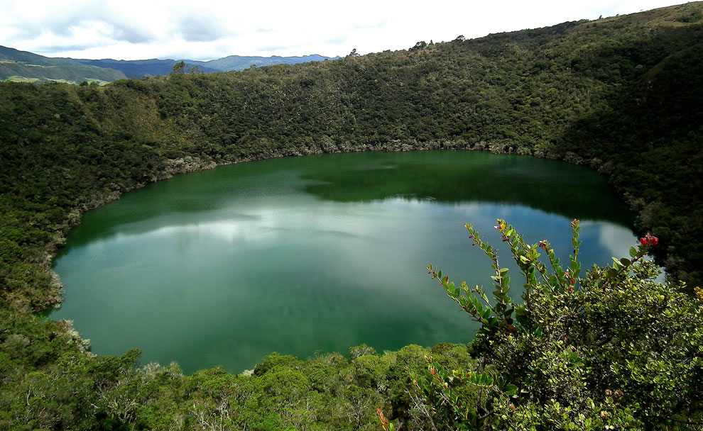 Laguna de Guatavita in Columbia, crater lake