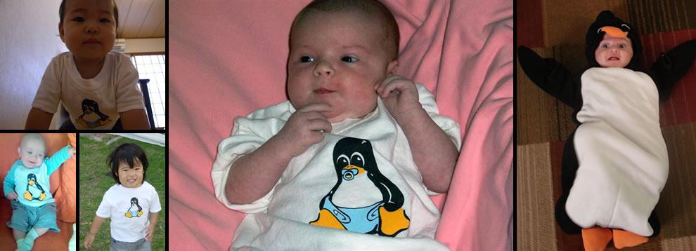 Linux Babies, future Linux kernel hackers, love Tux