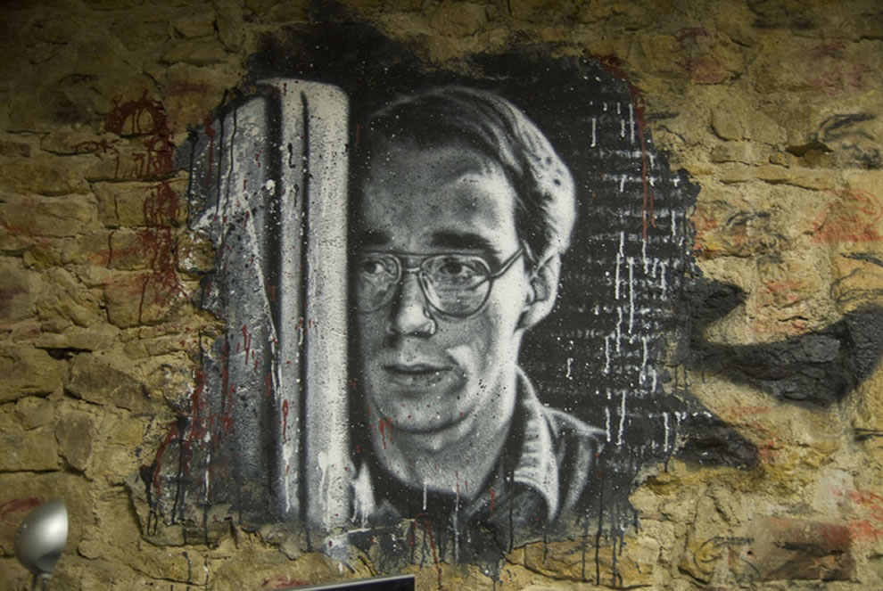 Linux's father, Linus Torvalds painted portrait