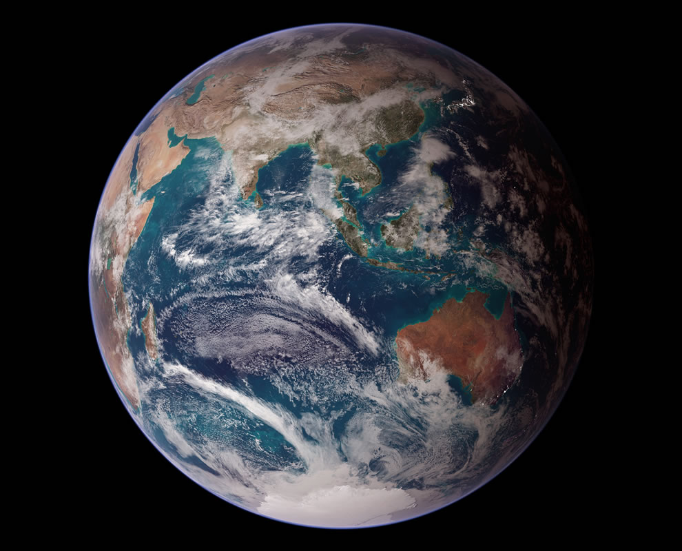NASA Blue Marble 2007 East
