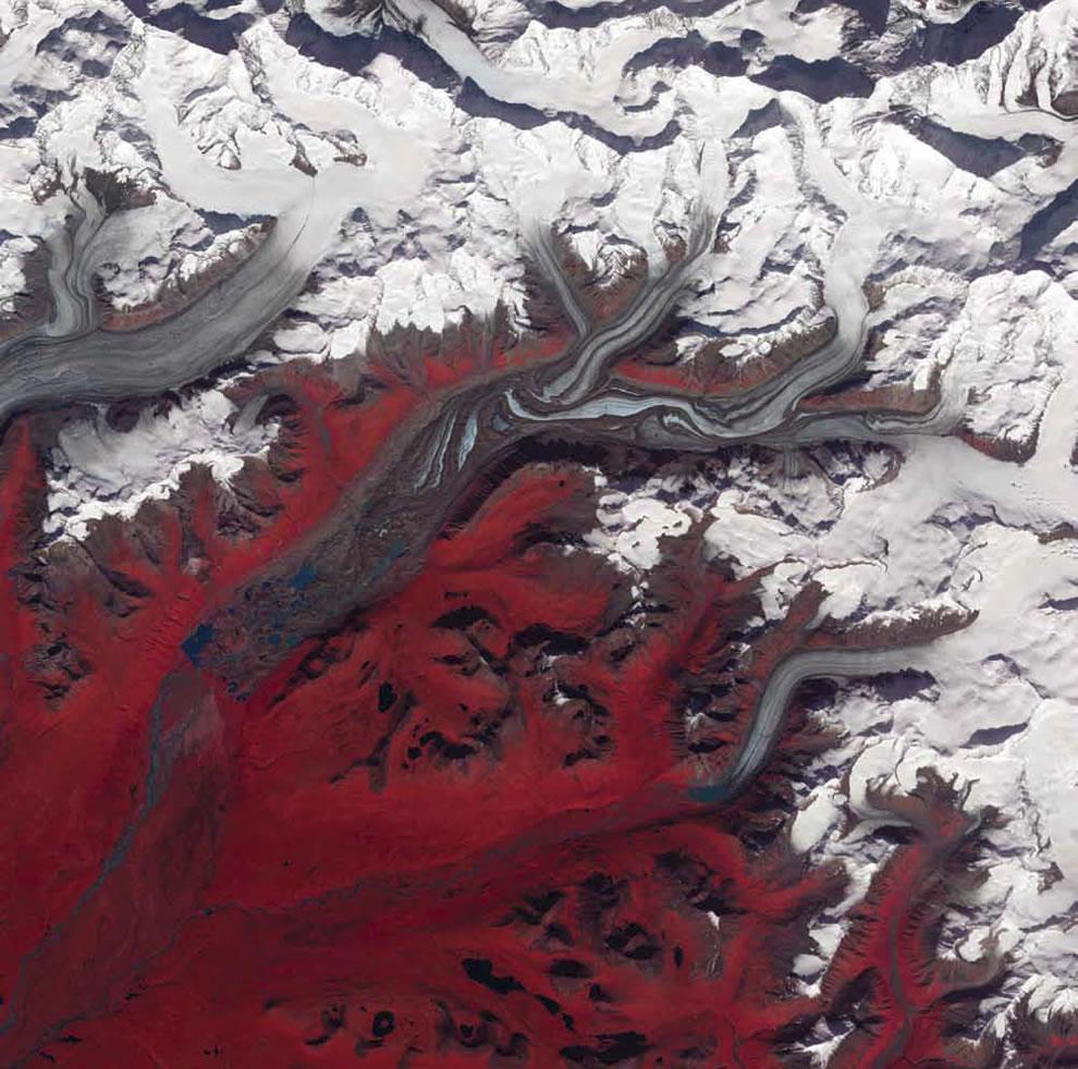 Susitna Glacier in the Alaska Range
