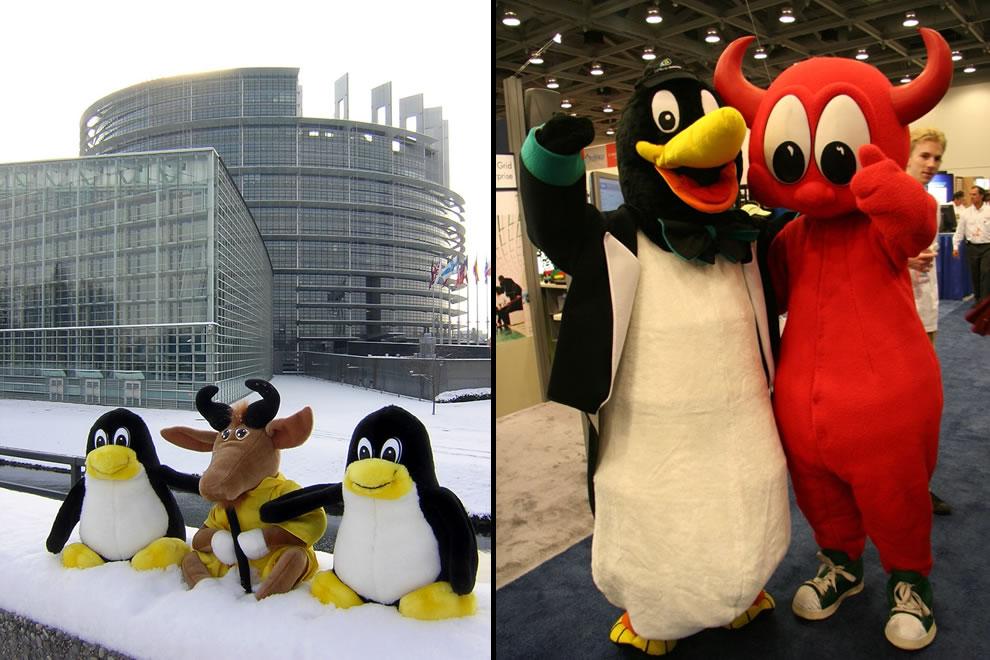 Tux, GNU, BSD Daemon