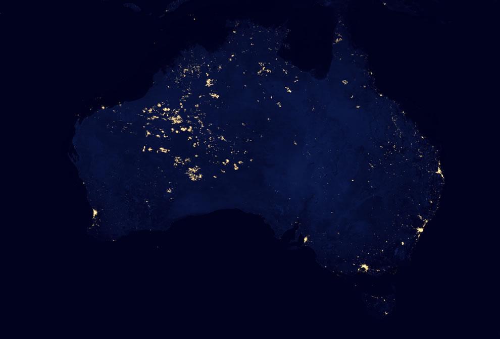 Why is unihabited western Australia so bright in the dark