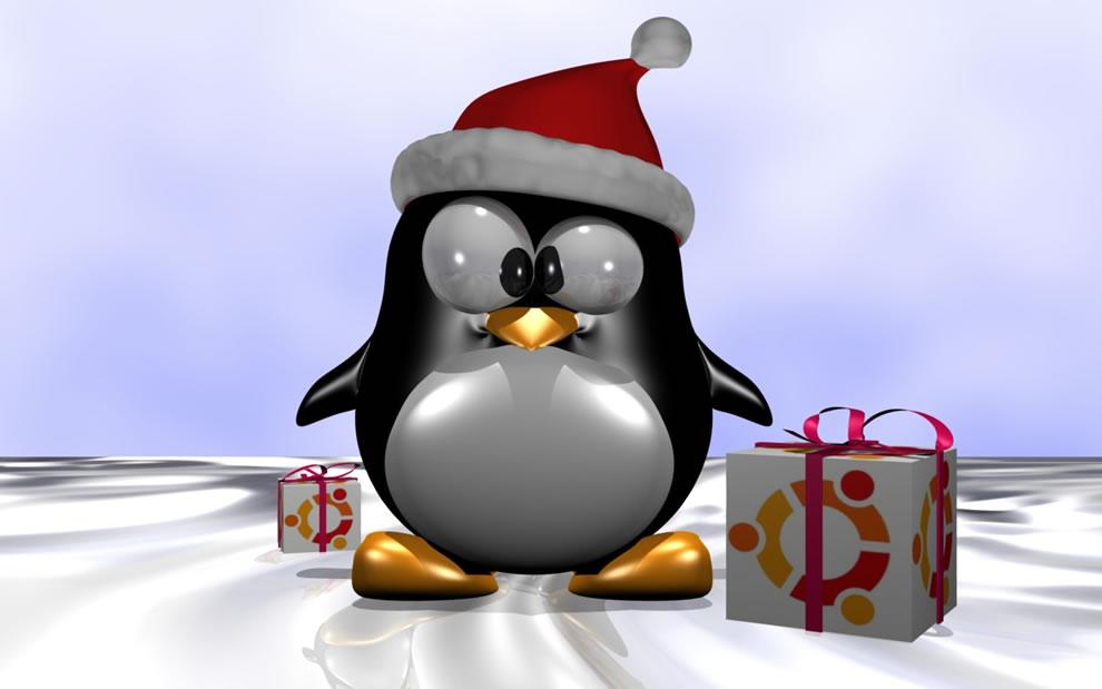 Christmas Tux Ubuntu