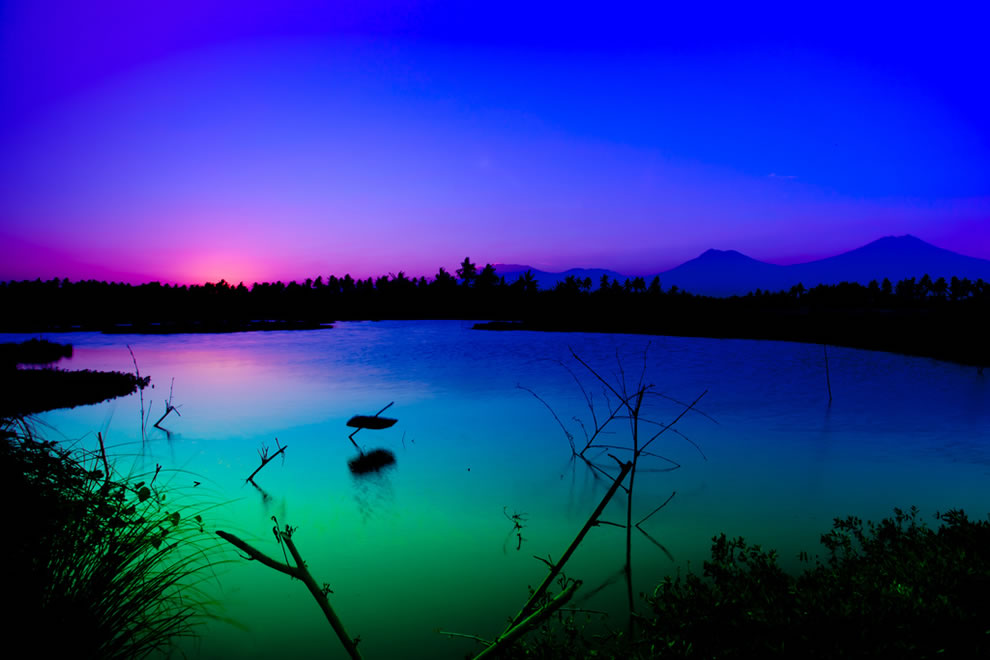 Colors of a mystic Java sunset, 12TH highest point of any island
