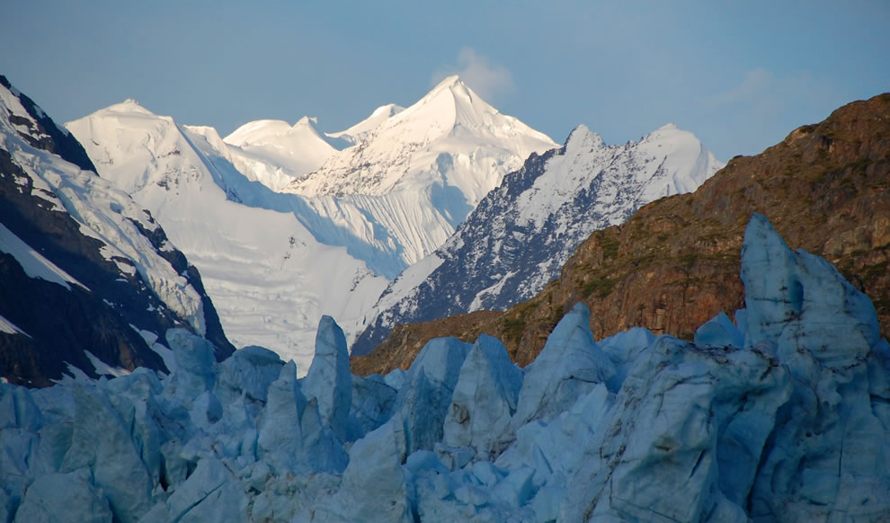 Fairweather Mountains and Margerie Glacier
