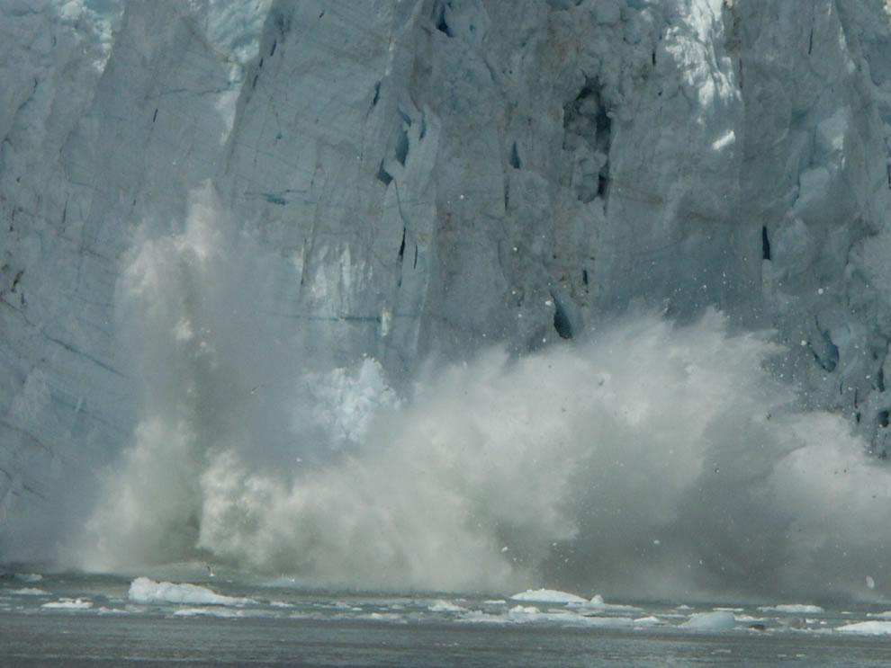Glacier calving at Glacier National Park & Preserve