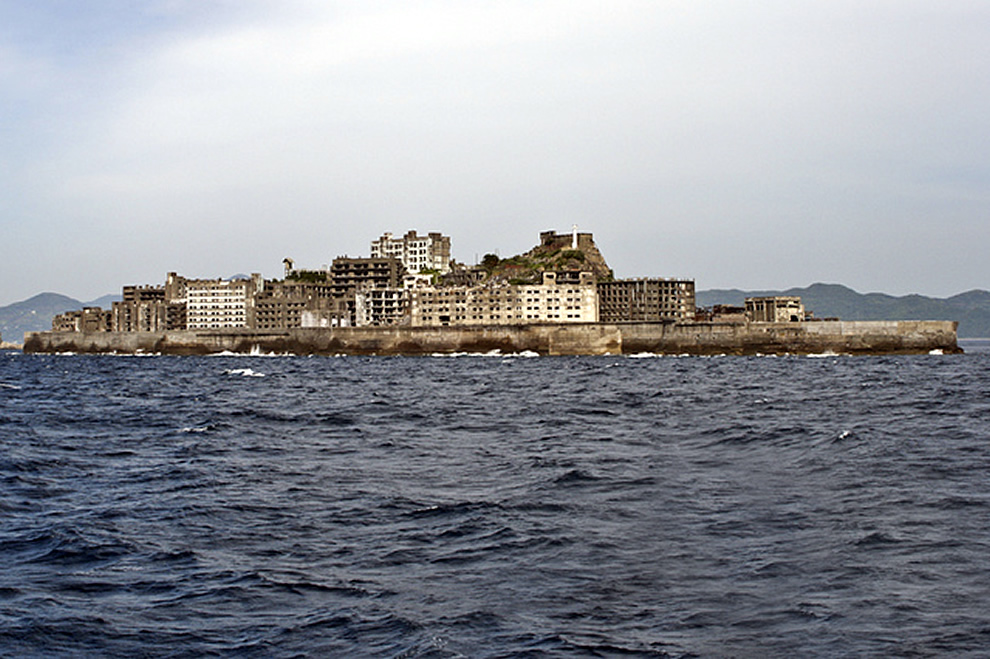 Hashima Island, also called Gunkanjima meaning Battleship Island, is Japan's ultimate industrial ruins ghost town, abandoned island in James Bond Skyfall