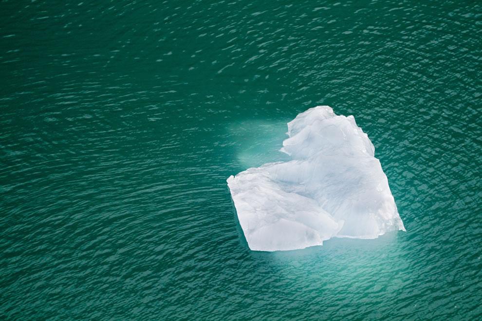 Heart-shaped iceberg