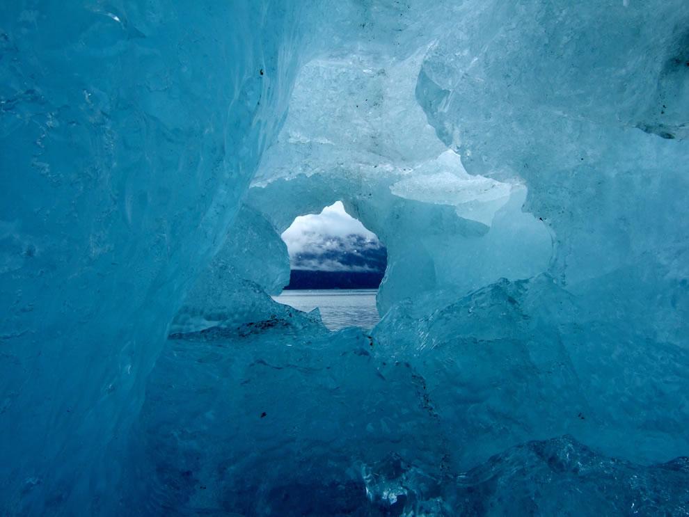 Ice cave at Glacier Bay National Park