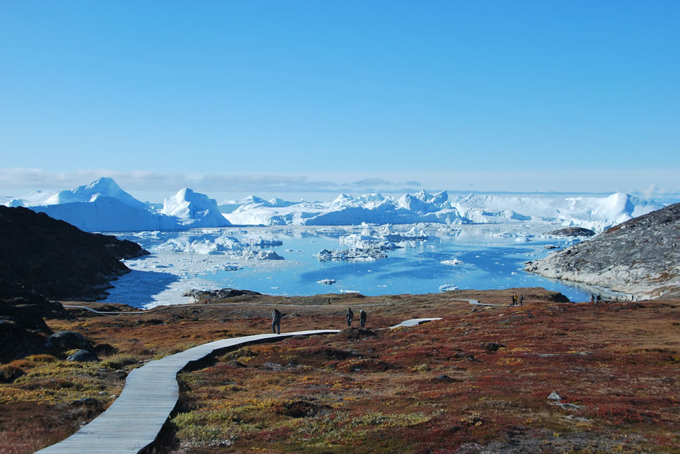 Icebergs, Ilulissat in Greenland
