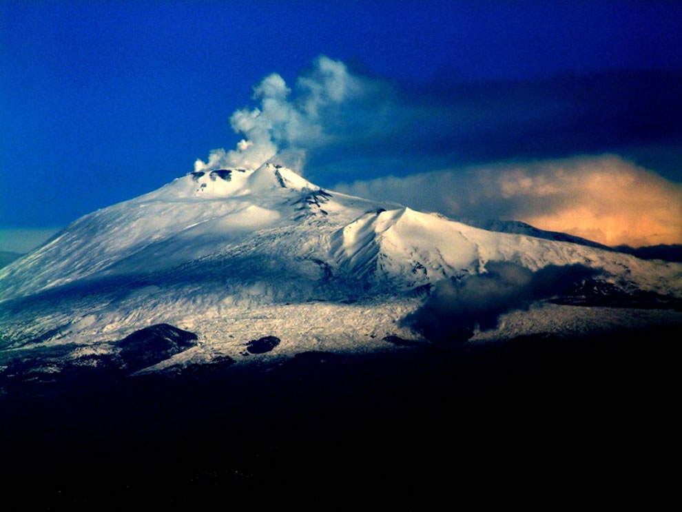 Mount Etna, Sicily, Italy, is ranked the #14th highest island point worldwide