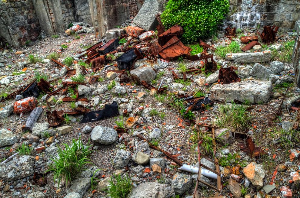Nagasaki Hashima Island (端島) Gunkajima Ruins