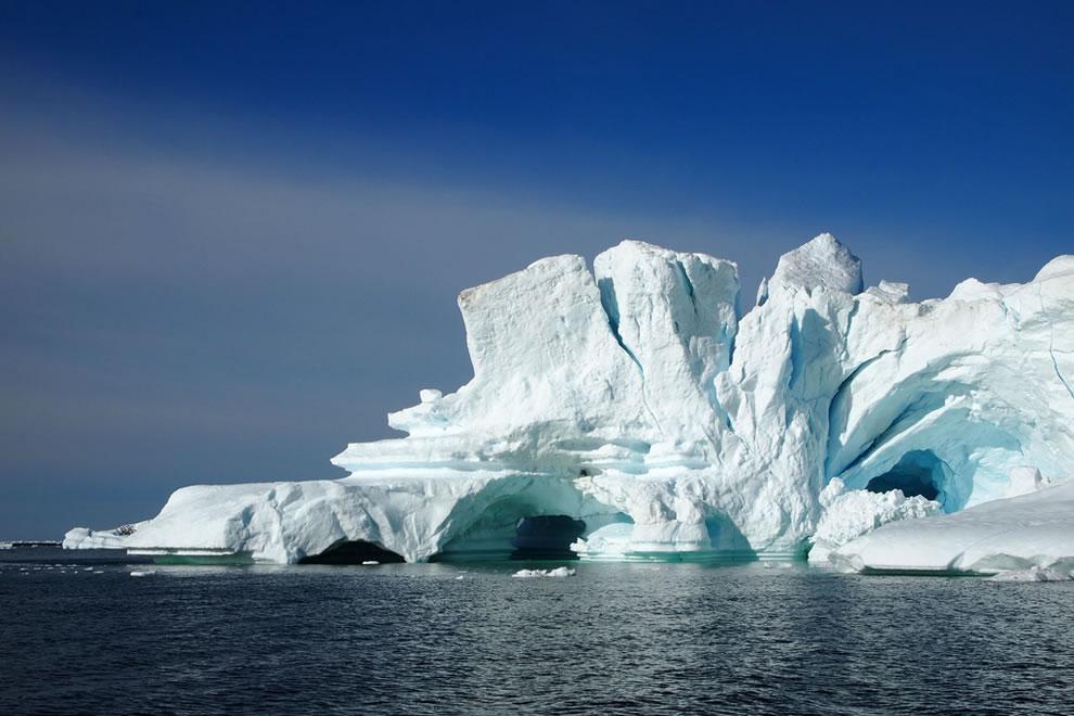 icebergs in North Greenland