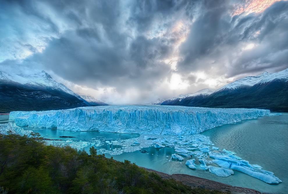 Perito Moreno glacier as seen from the edge of Lago Argentino