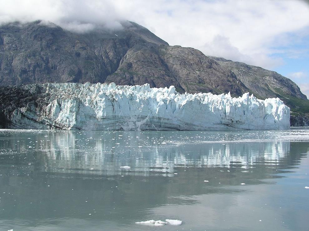 Reflections of Margerie Glacier in Glacier Bay National Park