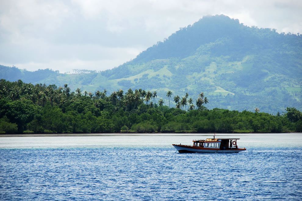 Sulawesi island, Indonesia, is ranked #13 highest island point because of Mount Rantemario