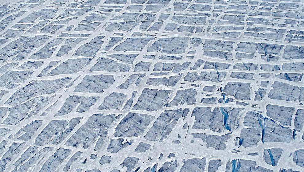 Surface of glacier at Glacier Bay National Park & Preserve