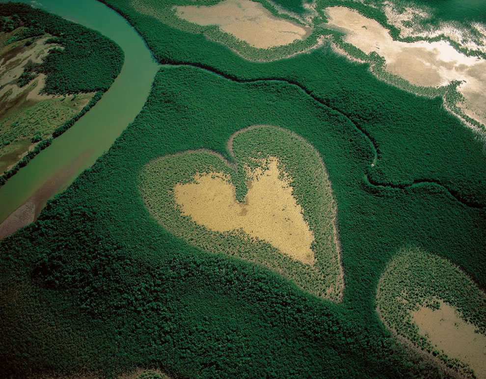 Heart of Voh, a heart-Shaped Mangrove, Voh, New Caledonia