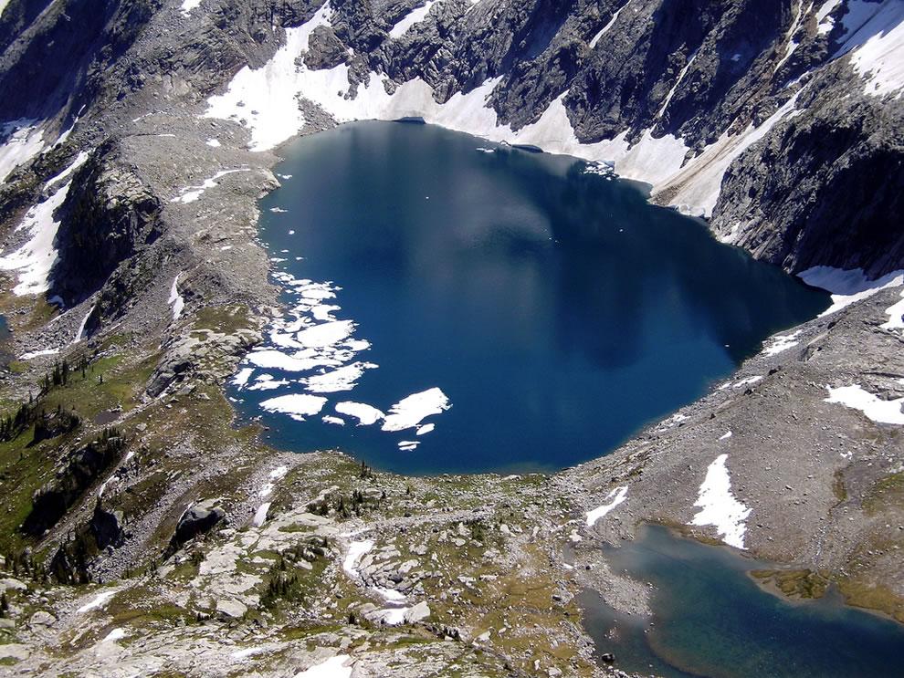 Heartshape, Mulvey Lake in British Columbia