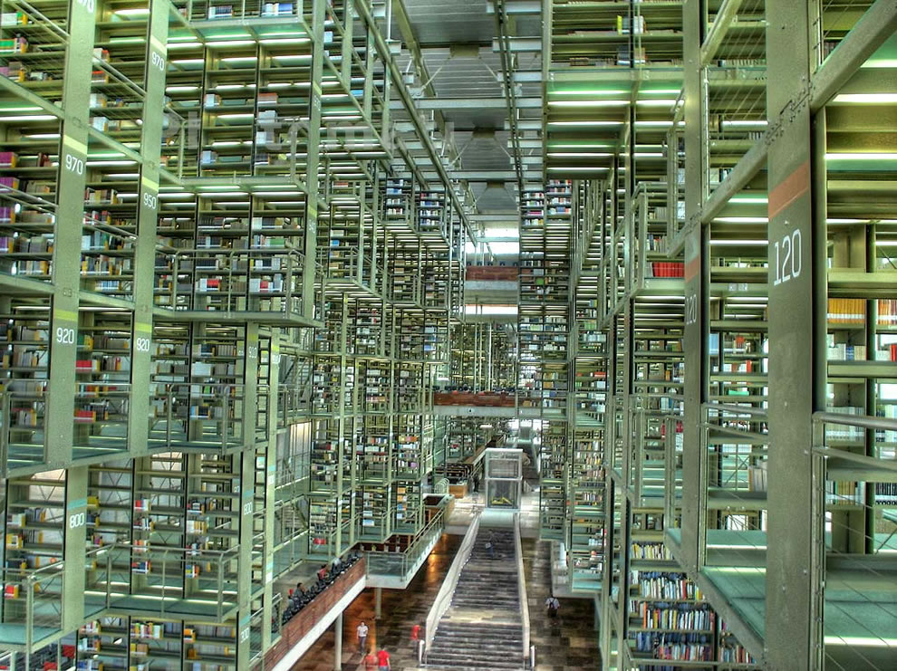 Jose Vasconcelos Library, Mexico City, is also one of the most modern libraries in the world