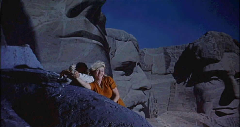 Mt Rushmore in North by Northwest is a 1959 MGM thriller by Alfred Hitchcock
