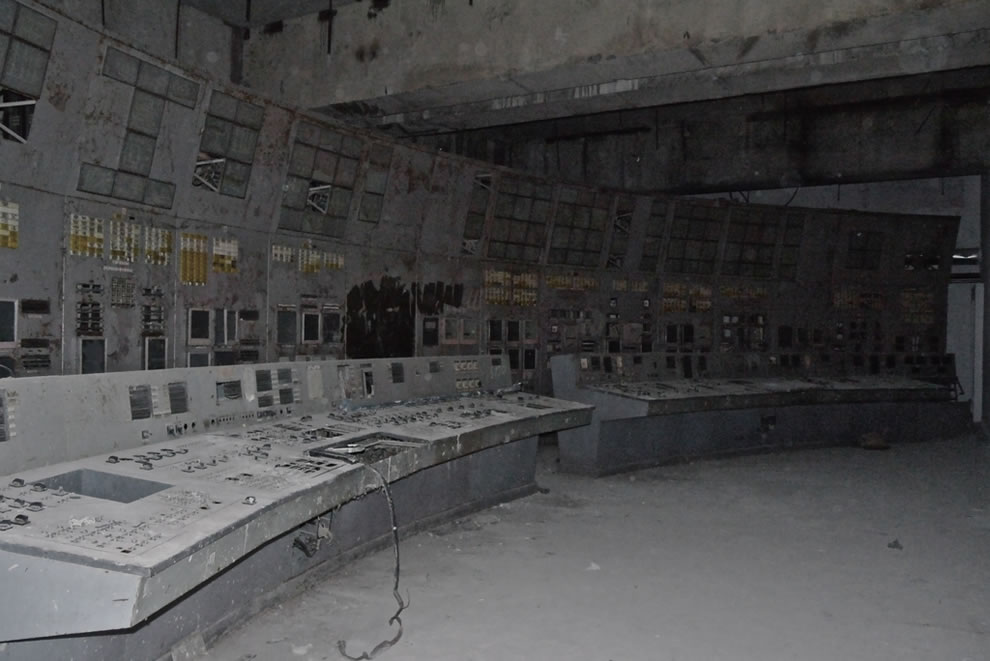 Abandoned Chernobyl Reactor 4 control room