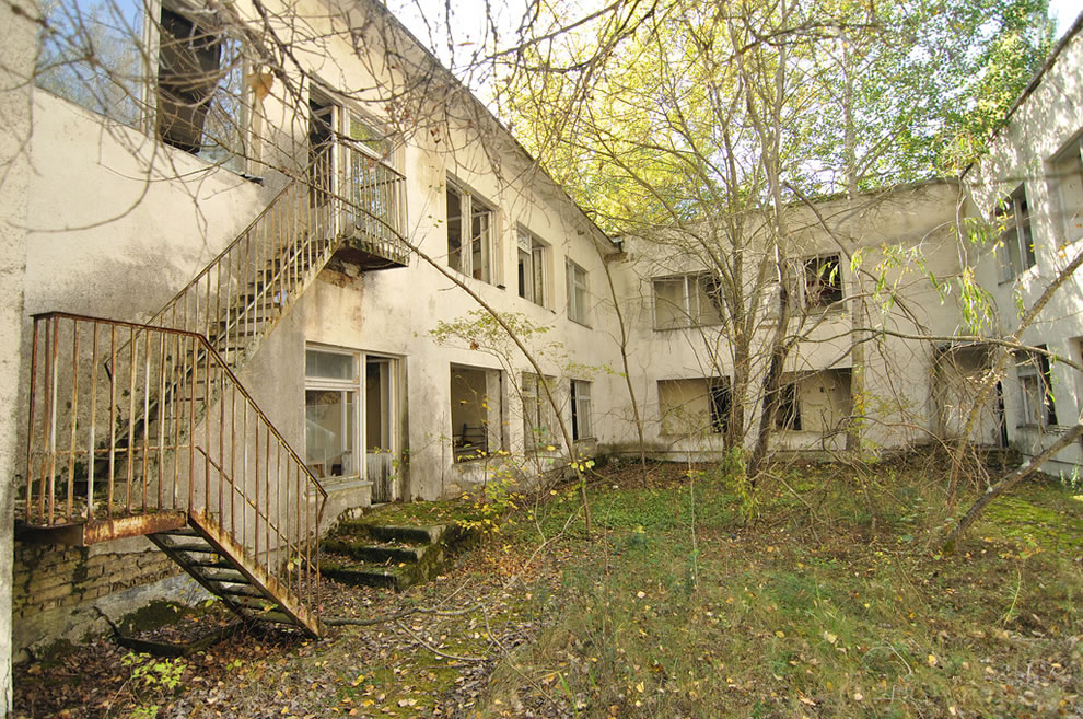 Abandoned buildings in Ukraine, Chernobyl Pripyat on October 3, 2012