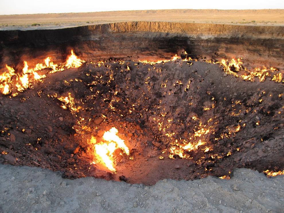 Burning Darvaza Gas Crater