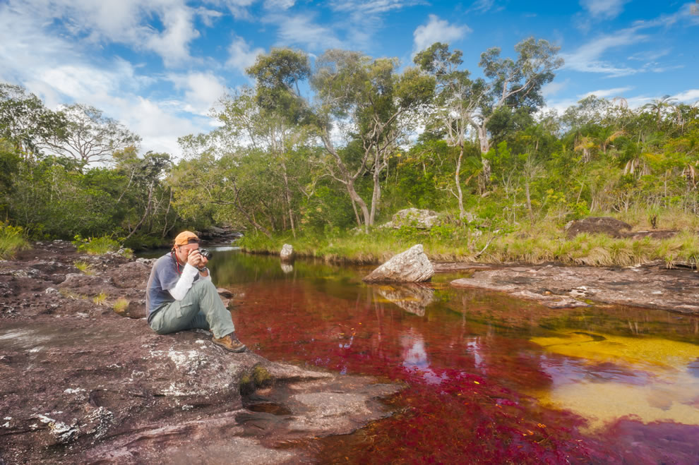 Caño Cristales is a hot spot for photographers, not Wi-Fi