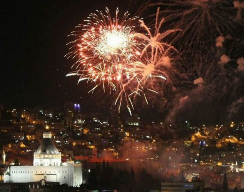 Christmas Eve FireWorks in The City of Nazareth