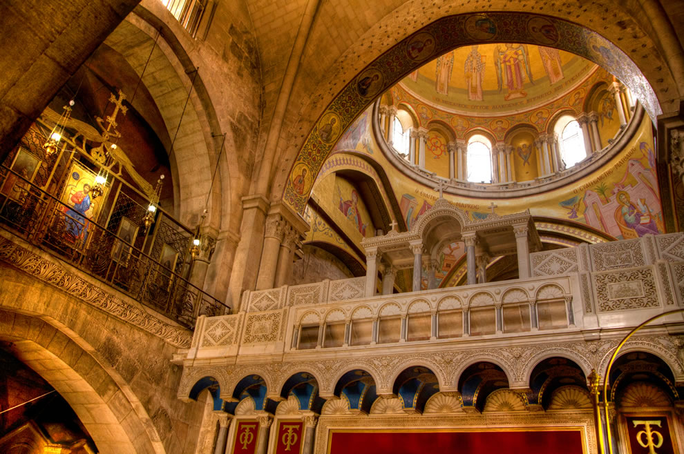 Dome of Church of the Holy Sepulchre built over the spot where Jesus Christ was crucified