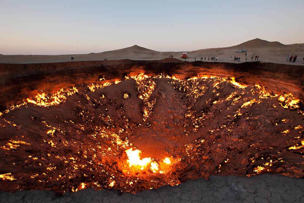 Golden Eagle Silk Road, The Door to Hell in Darvaza, Turkmenistan