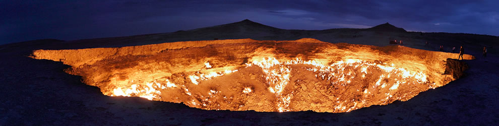 The Great Eye - 30 megapixel panorama of the Door to Hell