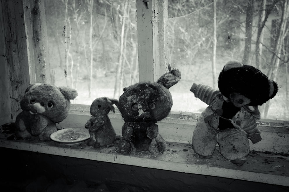 Waiting for Cuddles 2011 An abandoned nursery inside the exclusion zone around the Chernobyl Nuclear Power Plant