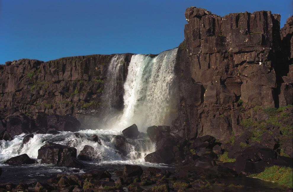 Öxaráfoss, at Þingvellir National Park