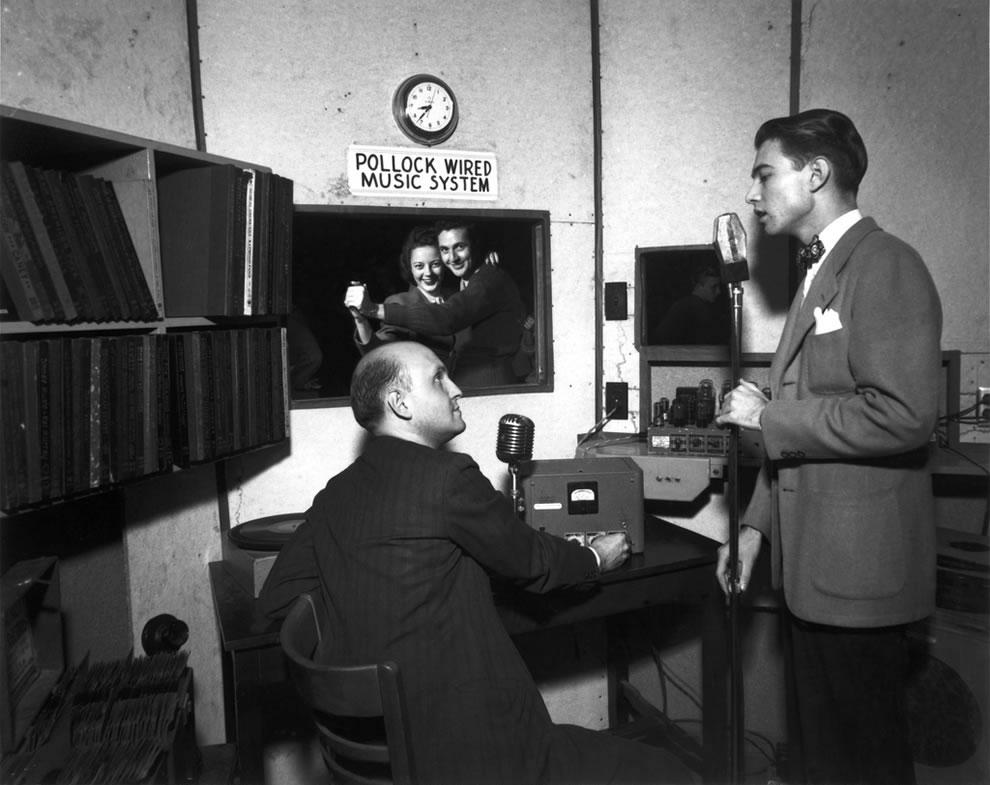 1945 Disk jockey at Oak Ridge