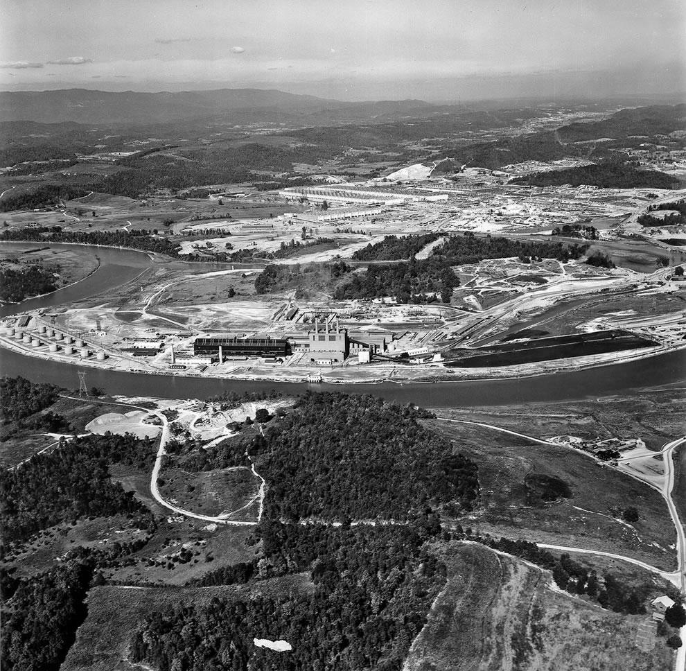 1945 K-25 Plant Aerial Oak Ridge Tennessee