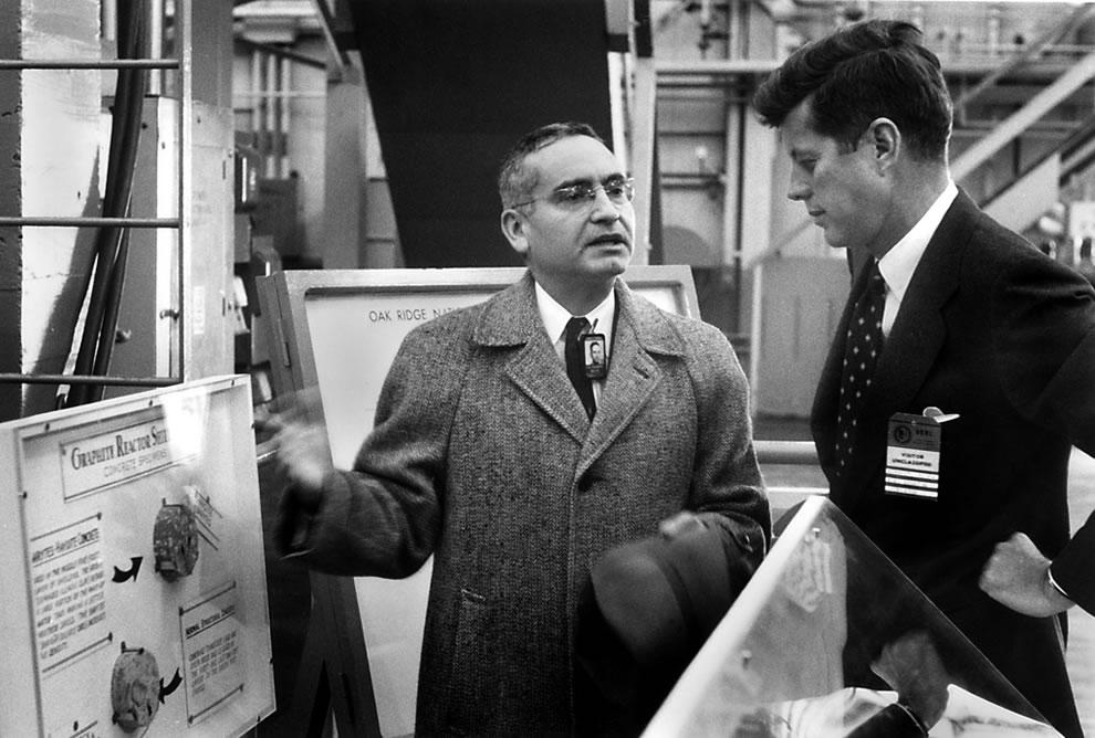 1959 Dr Alvin Weinburg and Sen. John F. Kennedy at the Graphite Reactor Oak Ridge National Lab