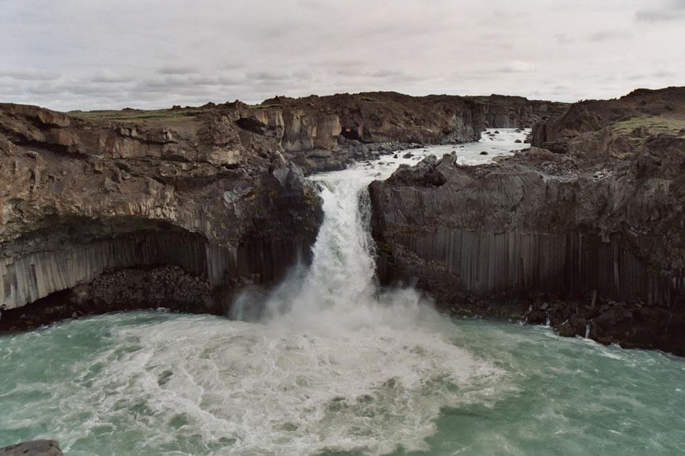 Aldeyjarfoss waterfall in the Highlands of Iceland