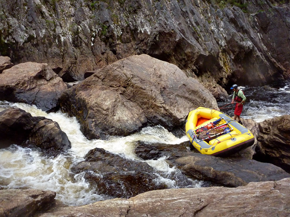 Day 5 of rafting and negotiating Franklin River, Tasmanian Wilderness, Tasmanian Wilderness World Heritage Area