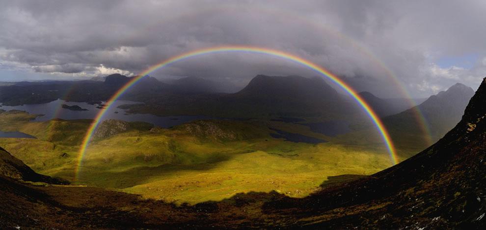 Double rainbow over Scotland