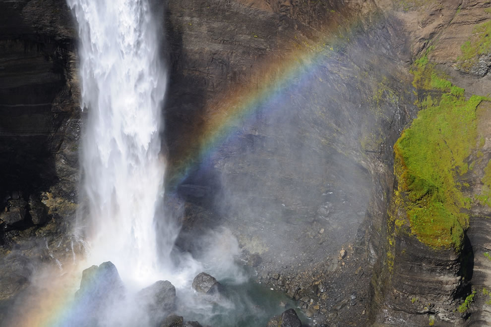 Háifoss, meaning High Falls is Iceland's second highest waterfall