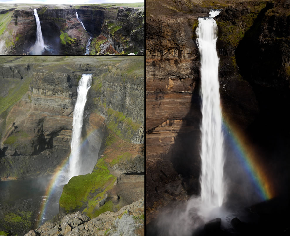 Háifoss, where the River Fossá falls over a cliff, stands at an incredible 122m
