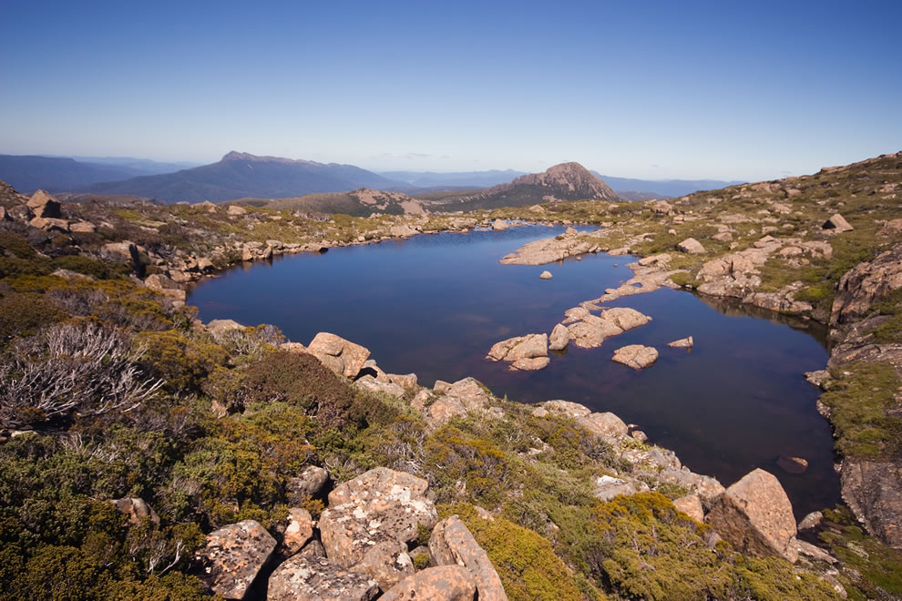 Lake on Anne Plataeu, Southwest National Park, Tasmanian Wilderness World Heritage Area, Tasmania, Australia