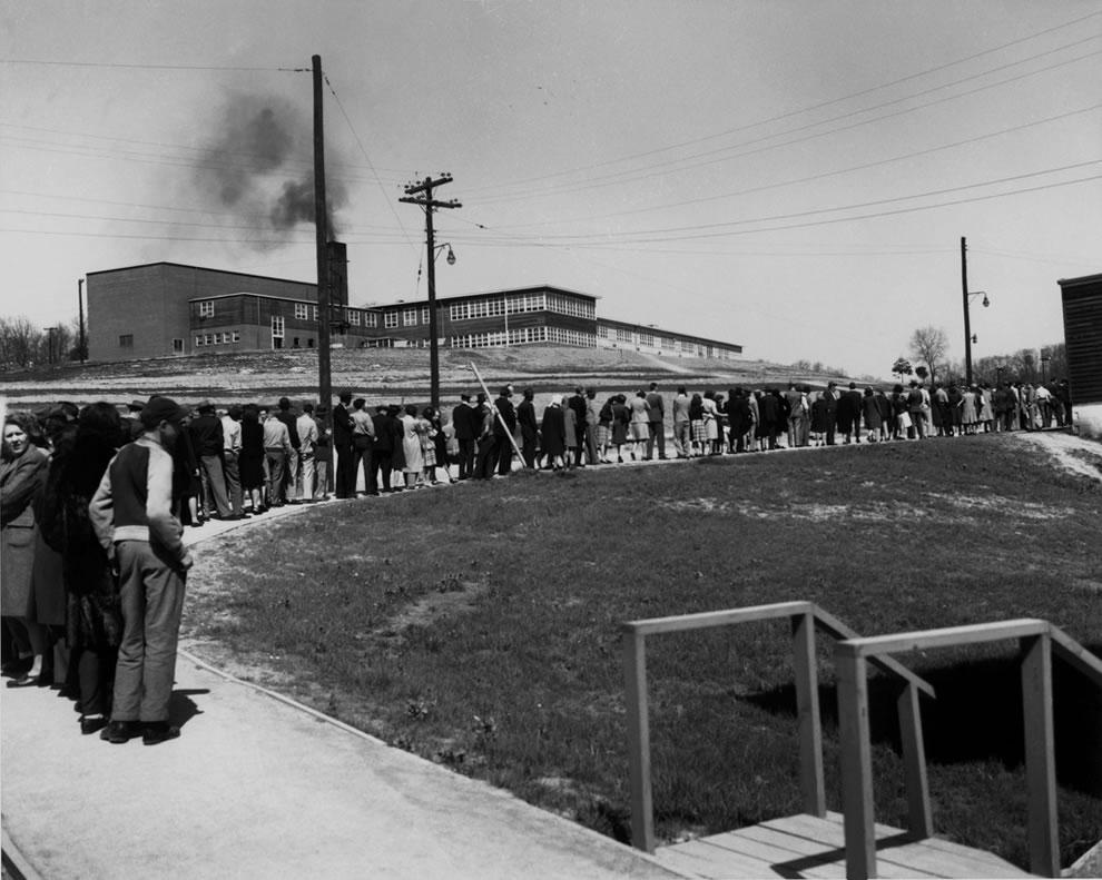 Line For Cigarettes IN 1945 at Williams Drug Store-Jackson Sq. Oak Ridge
